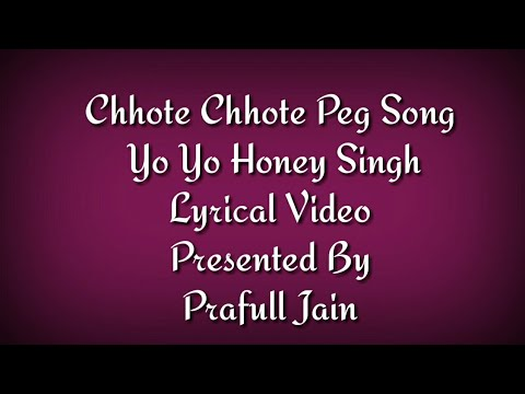 Chhote Chhote Peg Lyrics Video Yo Yo Honey Singh Neha Kakkar Navraj Hans Sonu Ke Titu Ki Sweety