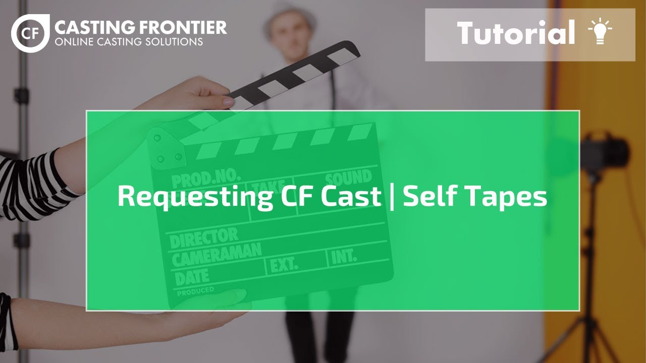 Online Acting Auditions | Video Auditions | CF Cast | Casting Frontier