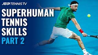Superhuman Tennis Skills: Part 2! Dimitrovs Agility, Gonzalezs Forehand & More... YouTube Videos