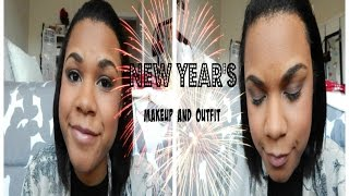 New Year's Eve Makeup and Outfit Thumbnail