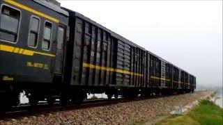 HD [China Railway] 南同蒲線 解県-永済 客レ・荷レ Trains at Yuncheng, Shanxi, China