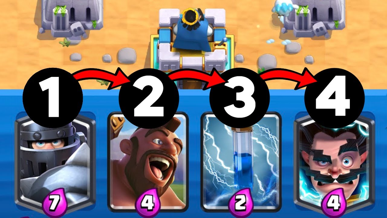 I played Clash Royale but in a specific order