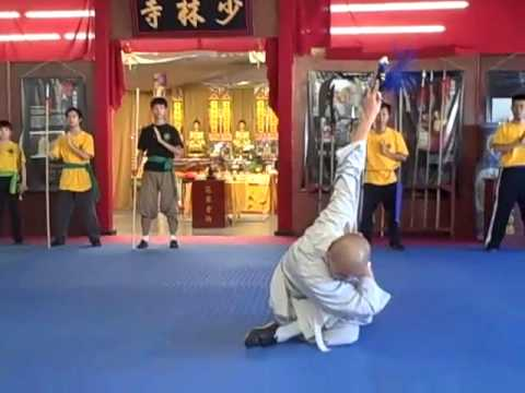 Shaolin Straight Sword demo by YanYue Shi, Shaolin Temple Cultural Center USA