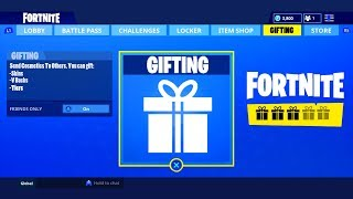 *NEW* GIFTING SYSTEM IN FORTNITE!