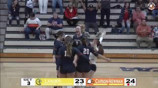 Carson-Newman Volleyball: C-N 3, Lander 1 Highlights 10-12-19