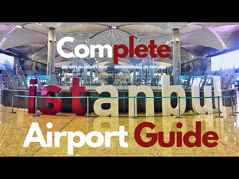 New Istanbul Airport Tour (Yeni Havalimani Istanbul) -  Arrivals, Transit and De