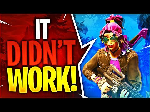 IT DIDN\'T WORK! (Fortnite Battle Royale)