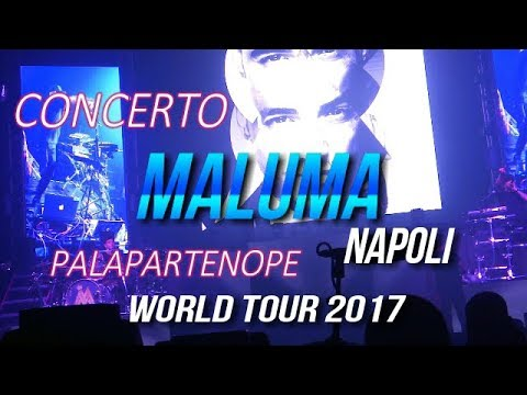 CONCERTO MALUMA AL PALAPARTENOPE 2017 NAPOLI WORLD TOUR