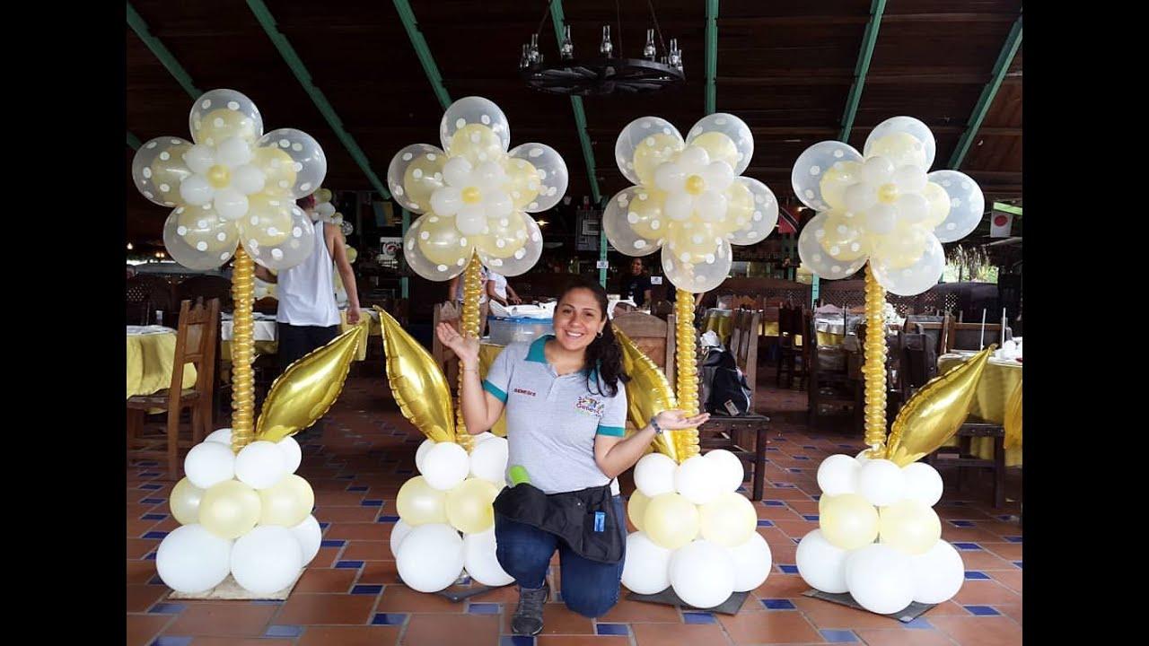 Como hacer una flor con globos paso a paso flower balloon - Como preparar una comunion en casa ...