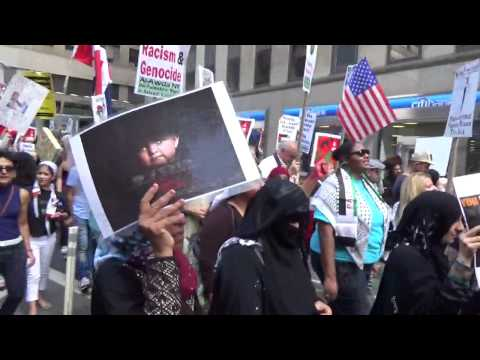 FREE FREE PALESTINE FREE FREE GAZA MARCH PROTEST IN NEW YORK AUG 9 2014 PART 4