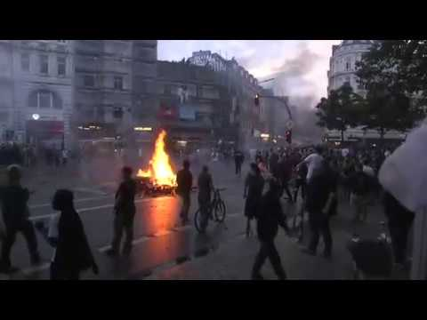 FULL STREAM: Night Time Anti-Capitalist Riot & Protest G20 Summit by Antifa in Hamburg, Germany