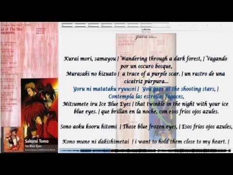 Ice Blue Eyes - Sakurai Tomo ENG, SPA & lyrics [Rurouni Kenshin]