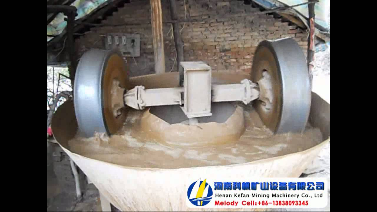 Wet Pan Mill For Processing Gold Copper Gold Grinding