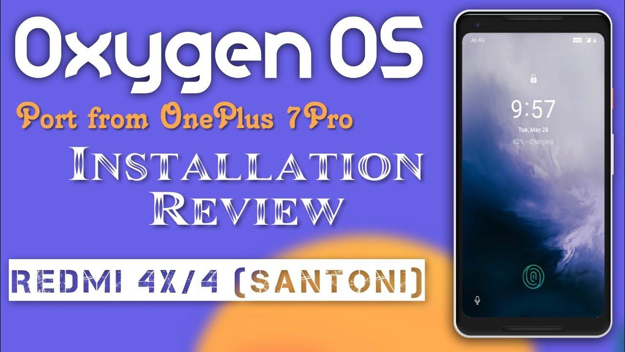 (GSi) OnePlus 7 Pro Port ROM for Redmi 4X/4 (santoni) Installation & Review  | Full Explain - HiNDi
