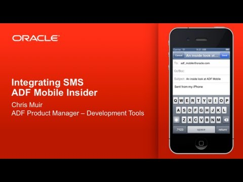 ADF Mobile - Integrating SMS