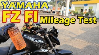 YAMAHA FZ FI MILEAGE TEST | FZ FI MILEAGE DETAILS | FZS FI MILEAGE