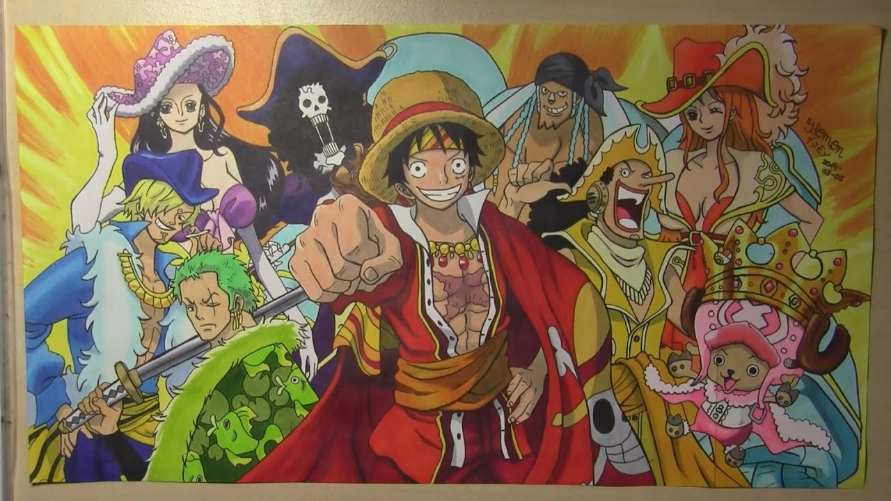 """One Piece"" Crew 17th Intro Dressrosa Arc (Copic Speed ..."