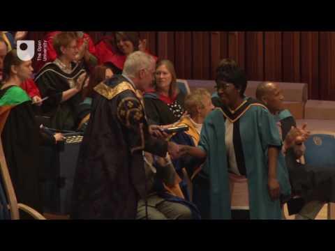 OU degree ceremony, Barbican Centre, London, Saturday 25th March, 10.45am