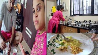 हालात ऐसे थे की एक प्लेट में खाना पड़ा वरना हम नहीं चाहते~Indian busy morning routine~Cleaning