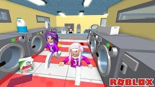 SECRET HIDDEN BADGE FOUND! / Roblox: Escape the Laundromat Obby 👚👖