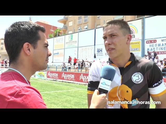 """Del Castillo, héroe del partido: """"Ha sido una explosión por todas las ganas que tenía de jugar"""""""