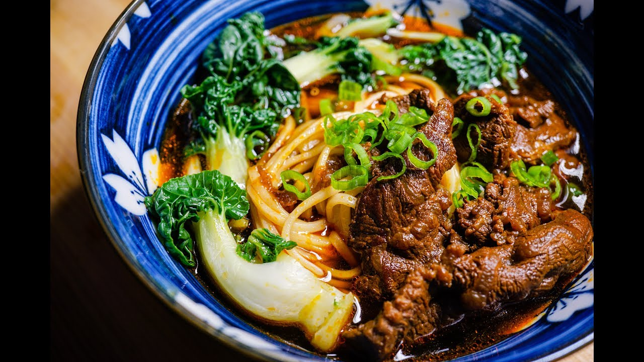 How To Make Taiwanese Beef Noodle Soup Recipe Youtube