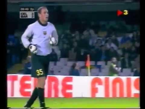 Debut de Pepe Reina con el FC Barcelona (+ lesión de Dutruel). Año 2000