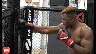 UNSEEN VIDEO! Francis Ngannou Devastating Knockout Power Training Session l UFC 220
