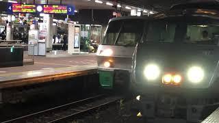 鹿児島本線787系特急きらめきと783系特急みどりの並び2021年4月13日(火)20時39分頃