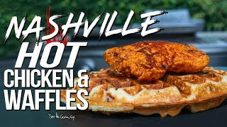NASHVILLE HOT CHICKEN AND WAFFLES | SAM THE COOKING GUY 4K