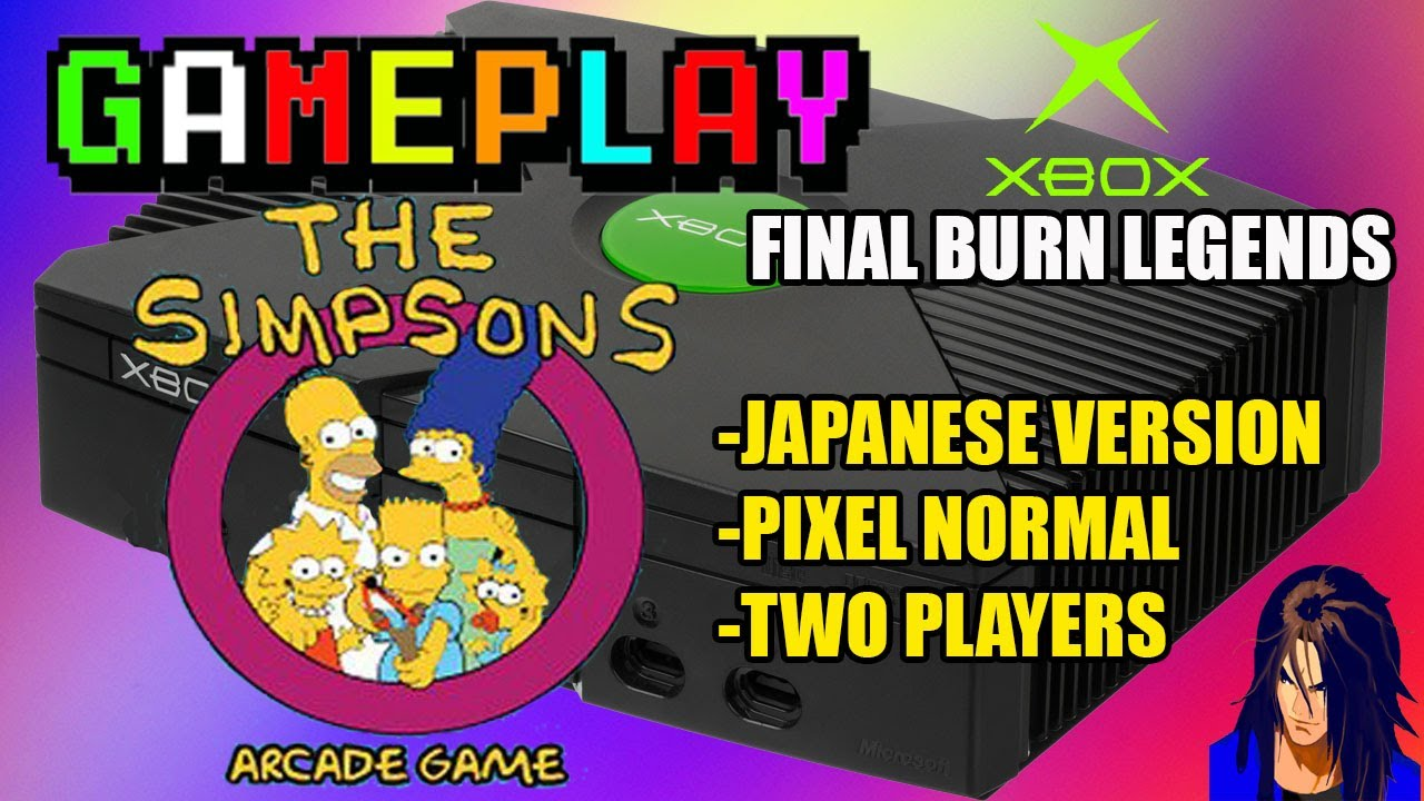 "The Simpsons Arcade - Japanese version - Simple Pixel ""Xbox Gameplay"" | KX y LOB"