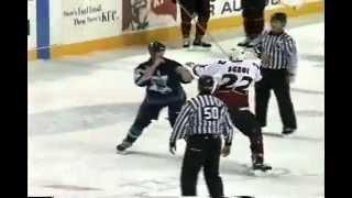 ahl worcester utah hockey fight steve mclaren vs mike sgroi 11 22 03