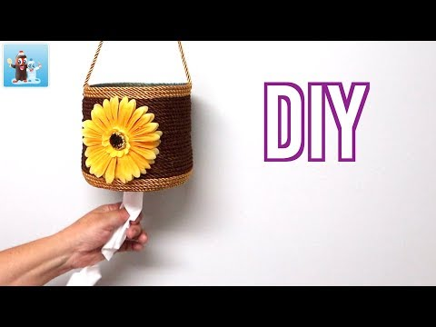 DIY Toilet Paper Rolls Holder from Plastic Bottle Home Decor Ideas Art and Craft