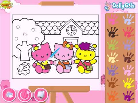 hello kitty back to school coloring hello kitty song