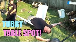 FAT MAN SUBMISSION MATCH! Grim VS TubbyBulldozer Backyard Wrestling Action!