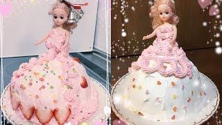 簡単! リカちゃん プリンセス ドレス ケーキ クリスマス How To Make a Princess Doll Cake  Como Hacer Un Pastel Princesa easy