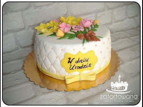 JAK ZROBIĆ TORT NA URODZINY KOBIETY / Birthday Cake For Woman