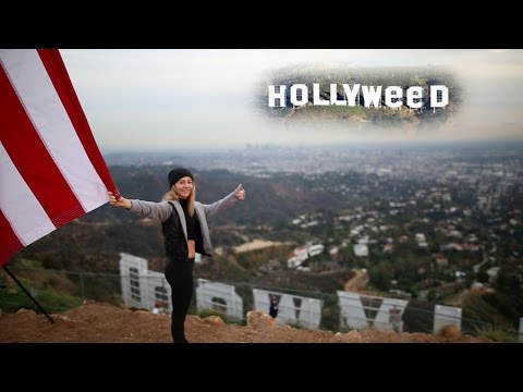 BEHIND THE HOLLYWEED SIGN!