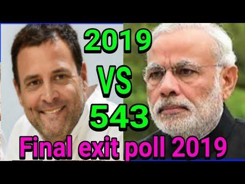 All exit polls lokshoba election 2019  c voter exit poll lokshoba 2019