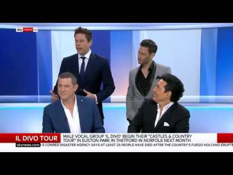 IL DIVO Interview Sky News London 4-6-2018