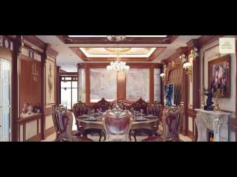 Nội thất biệt thự tại Vincom phong cách tân cổ điển của anh Hùng