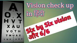 Vision check up in hindi