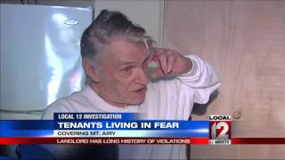 Tenants living in fear; landlord has history of violations
