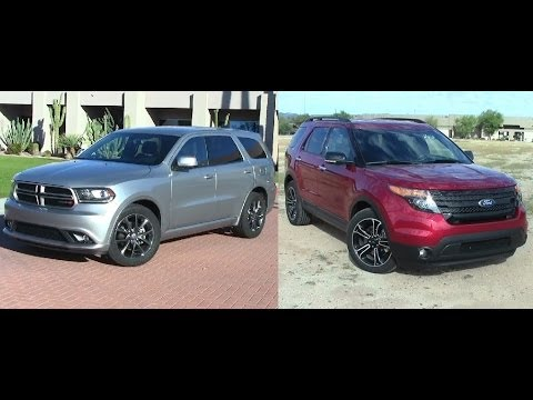 2014 Dodge Durango Vs 2014 Ford Explorer Youtube