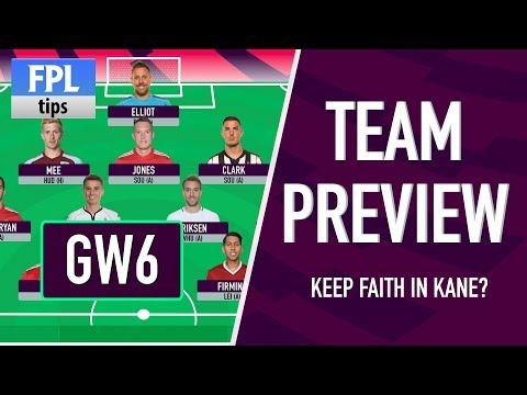 GAMEWEEK 6: TEAM SELECTION | Keep Faith in KANE or Sell to AGUERO? | Fantasy Premier League 2017/18