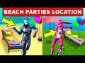 Dance at Different Beach Parties – ALL 6 LOCATIONS (14 DAYS OF SUMMER CHALLENGES FORTNITE)