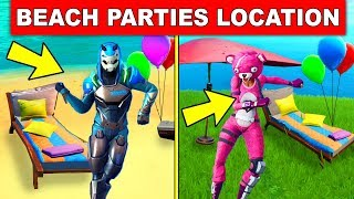 Dance at Different Beach Parties - ALL 6 LOCATIONS (14 DAYS OF SUMMER CHALLENGES FORTNITE)