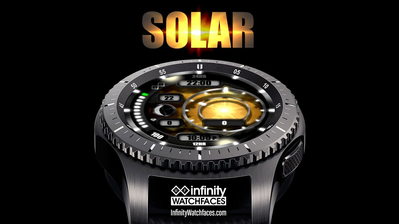 """Solar"" Watch Face for Samsung Gear S3 & S2 Smartwatches ..."