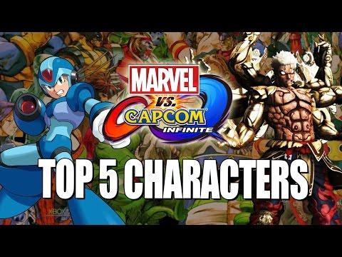 TOP 5 *NEW* CAPCOM CHARACTERS: Marvel Vs. Capcom Infinite Wishlist