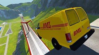 Beamng drive - Open Bridge Jumping Car Crashes #42 | BeamNG-Destruction